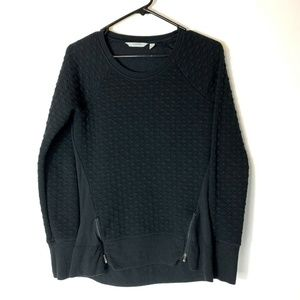 Athleta XS R&R Pullover Quilted Sweater Top Womens